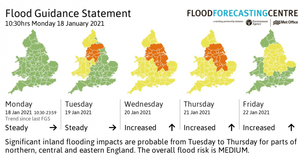 Flood Guidance Statement issued by the EA and Met Office