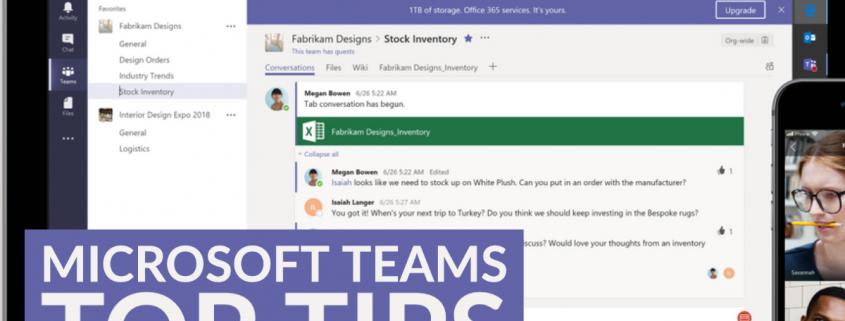 Top Tips Microsoft Teams