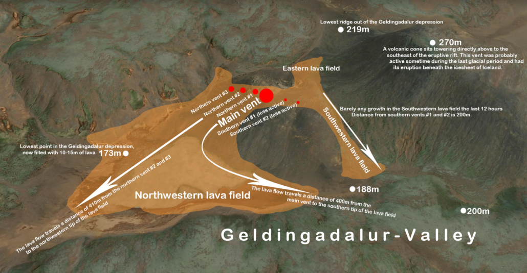 Annotated eruption map Source: Volcano Cafe - https://www.volcanocafe.org/reykjanes-the-second-day/