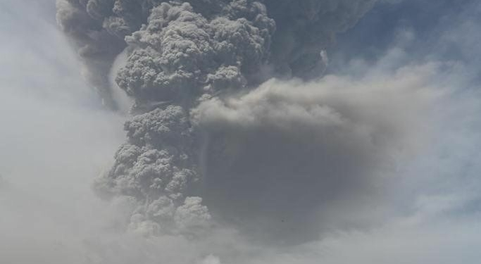 The eruption of La Soufriere volcano Photograph: UWI Seismic Research Centre