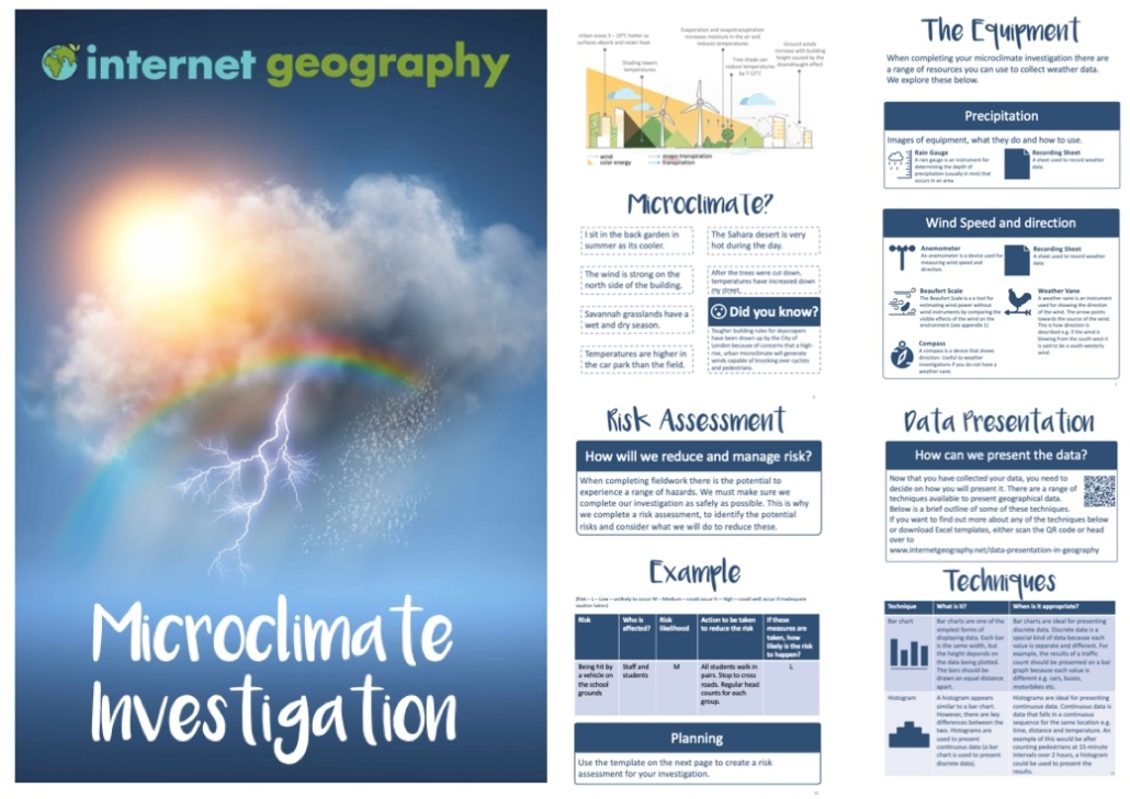 Microclimate Investigation Booklet